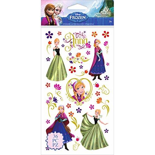 JOLEES E5300062 Disney Frozen Anna & Flowers Stickers