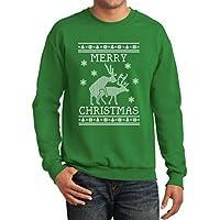 Tstars Funny Ugly Christmas Sweater - Humping Reindeer Men's Sweatshirt