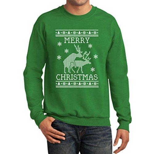 Tstars Funny Ugly Christmas Sweater - Humping Reindeer