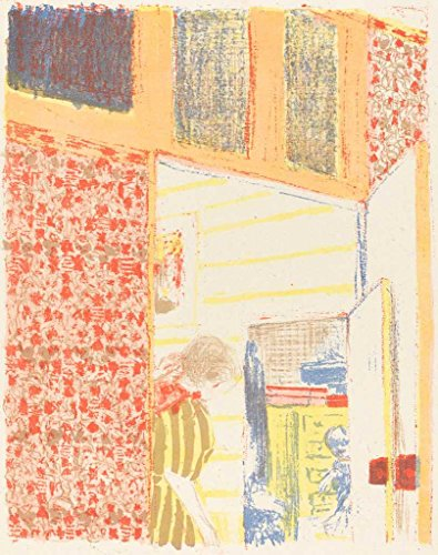 Fine Art Print | Interior with Pink Wallpaper II (Interieur aux tentures roses II) c. 1896 (1899) | Edouard Vuillard | Vintage Wall Decor Poster Reproduction | 11in x 14in