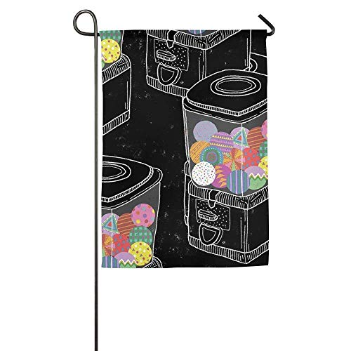 Sandayun88x Gumball Machines Stylish 12 X 18 Garden Flags Seasonal Not Faded Yard Flag