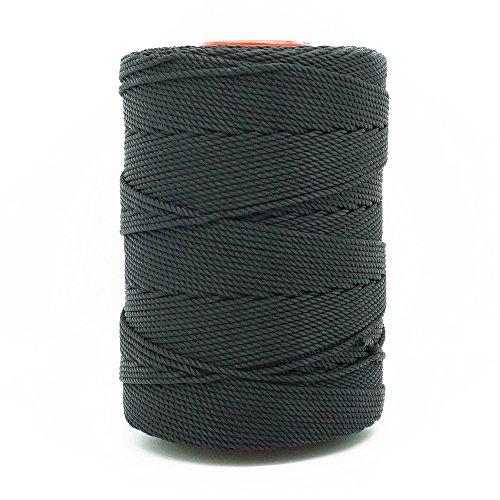 Hand Beading - BLACK 1.5mm 100% Nylon Twisted Cord Thread Macrame Beading Crochet Hand Crafts Artisan