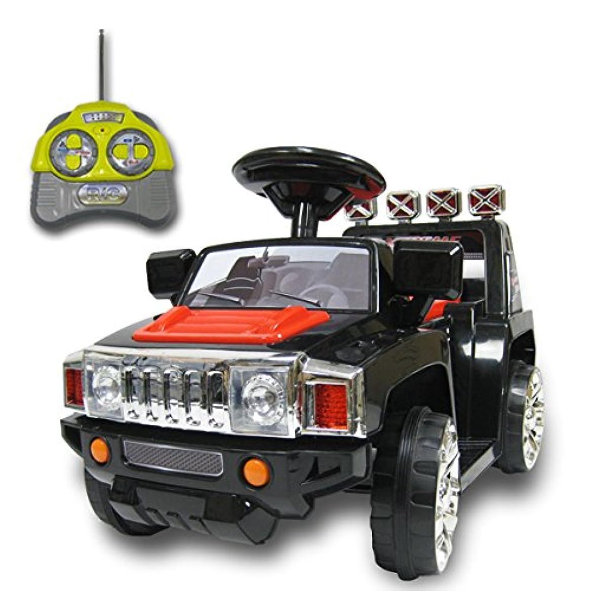 小数軌道ライター乗用ラジコンBENZ AMG GT-R [HL288] 抗菌ハンドル搭載 Wモーター&バッテリー6V4.5AH×2(電動乗用玩具?リモコン付)(01.ブラック)