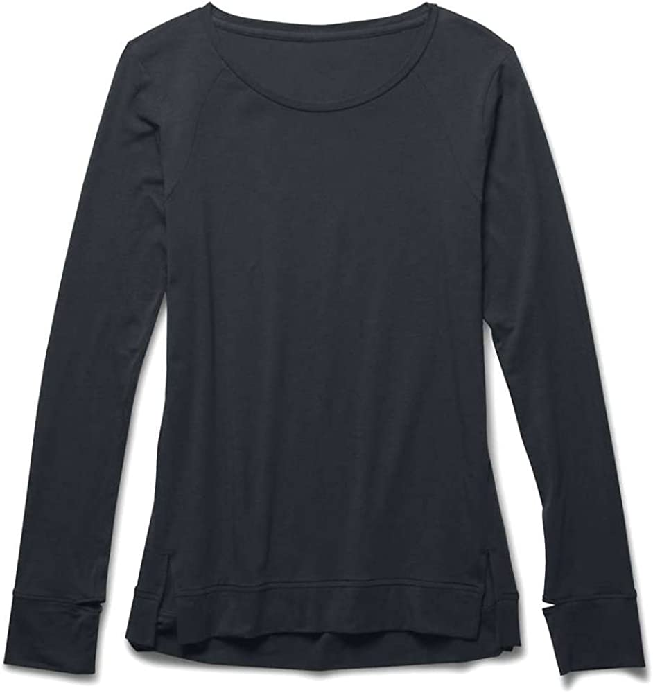 Under Armour Womens Waffle Longsleeve Crew Neck Tops Large