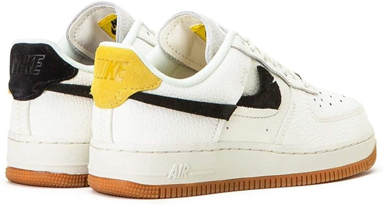 Nike Wmns Air Force 1 '07 LXX Sneakers Bianco Nero Giallo