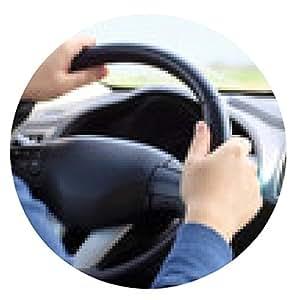 alfombrilla de ratón teléfono con el taxi interfaz en una pantalla sobre un fondo conduciendo hombre - ronda - 20cm