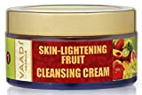 Skin-lightening Fruit Cleansing Cream with Orange Extract, Turmeric Extract, Coconut Milk and Wheat Germ Oil - ★ ALL Natural - ★ Paraben Free - ★ Sulfate Free - ★ Suitable for Both Men and Women - ★ Good for All Skin Types (Oily, Glowing, Dry, Normal, Combination, Sensitive) - 1.8 Ounces - ★ Premium Quality - Vaadi Herbals