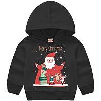 SALNIER Toddler Christmas Sweater Baby Girl Boy Cute Cotton Pullover Hoodie Sweatshirt Long Sleeve Shirt Jacket 12M-6Years