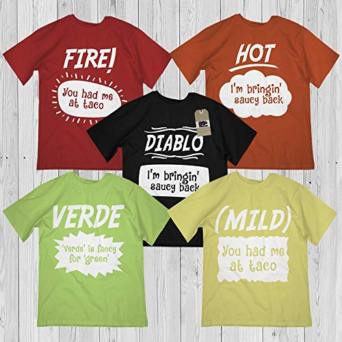Hot Sauces 5-Packets Halloween Shirt Matching Group Family Costume Customized Handmade Hoodie/Sweater/Long Sleeve/Tank Top/Premium T-shirt -