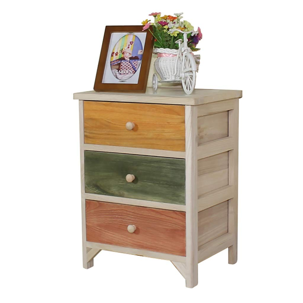 A Bedside Table, Solid Wood Environmentally Friendly Paint-Free color Bedside Table, Available in A Variety of colors (color   E)