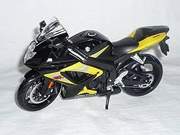 SUZUKI GSX R750 R 750 SCHWARZ GELB 1 12 MAISTO MOTORRADMODELLE MOTORRAD MODELL