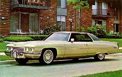 bishko automotive literature 1972 Cadillac 2-Door Hardtop Post Card Sales Piece Advertisement Cadillac 2 Door Hardtop