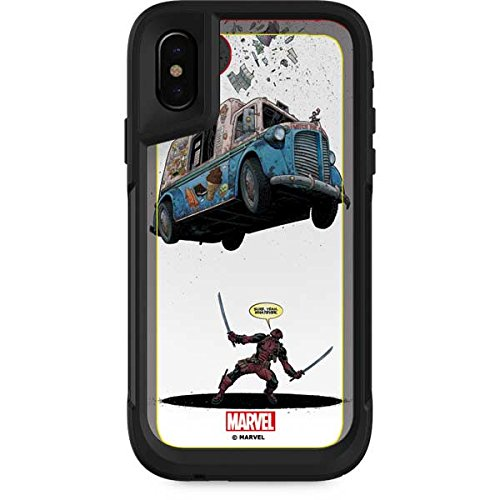 Skinit Marvel Deadpool OtterBox Pursuit iPhone X Skin - Deadpool I Scream For Ice Cream Design - Ultra Thin, Lightweight Vinyl Decal Protection