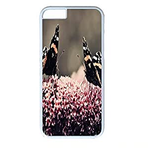 Hard Back Cover Case for iphone 6 Plus,Cool Fashion White PC Shell Skin for iphone 6 Plus with Two Beautiful Butterflies