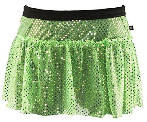 Lime Green Sparkle Running Skirt XL