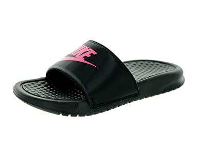 fe072e2c3 Nike Benassi JDI (Little Kid Big Kid) Black Dynamic Pink 2 Little