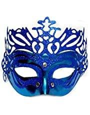 Blue Birthday Masquerade Mask for Festival Events