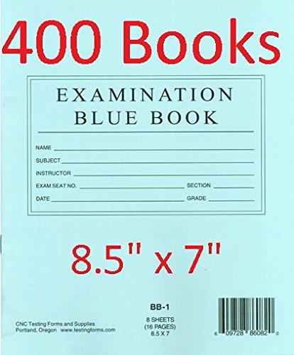 """TestingForms.com 8.5"""" x 7"""" Examination Blue Book 8"""