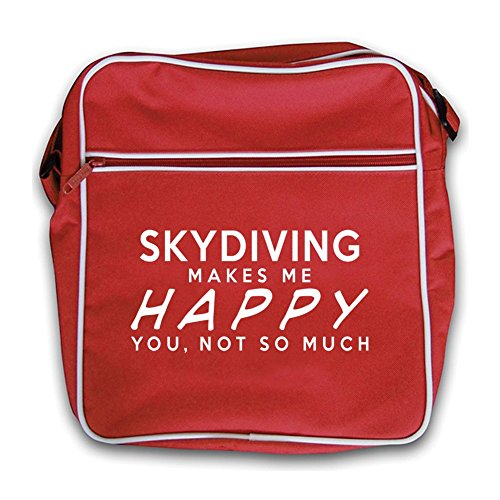 Black Bag Flight Me Red Makes Retro Happy Skydiving PYgq87wx