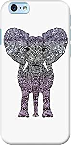 DailyObjects Creacover Elephant Case For iPhone 6 White/Cream