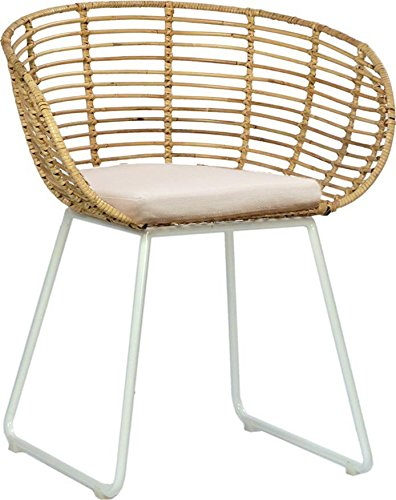 Amazon Com Dovetail Furniture Dining Chair Dovetail Pablo White