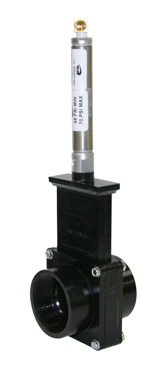 Valterra 9207S ABS Gate Valve, Black, 2'' FPT, Metal Air Cylinder