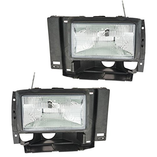(Headlights Headlamps Left & Right Pair Set for Ford Explorer Ranger Pickup Truck)