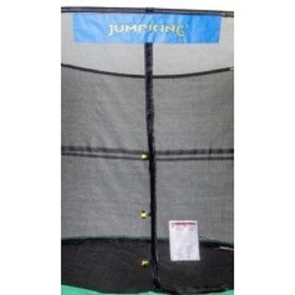 JumpKing 8' x 12' Enclosure Net Oval for 8 Poles with JK Logo, Black by JumpKing