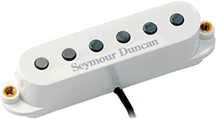 White Seymour Duncan SSL-5 Custom Staggered TAPPED High Output Strat Pickup