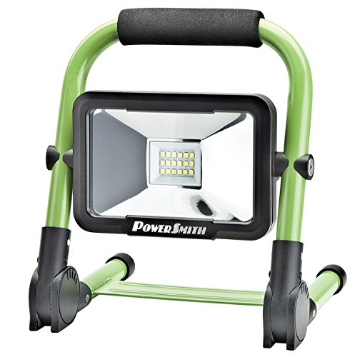 PWLR1110F 10W 900 Lumen Cordless Foldable Portable Metal Stand, Lithium Ion Battery LED Work Light for Camping, RV, Marine, Boating, with USB Port for Mobile Device Charging by PowerSmith