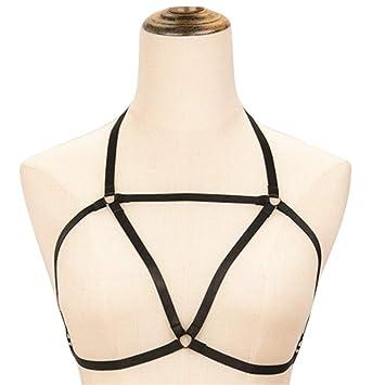Xiang Ye Arnés de alambre caliente correa sexy sujetador negro ...