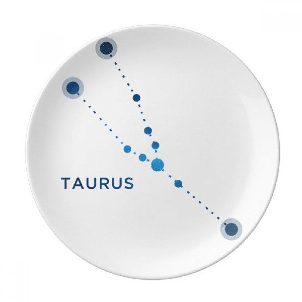 Taurus Constellation - Plato de postre decorativo de porcelana con ...