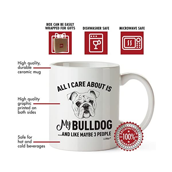Bulldog Mom Gifts Mug For Christmas Women Men Dad Decor Lover Decorations Stuff I Love Bulldogs Coffee Accessories Talking Art Apparel Funny Birthday Gift Home Supplies Products Dog Coffee Cup Mugs 3