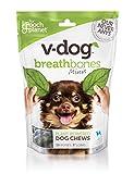 V-dog Vegan Breathbones Dog Treats, Mini, (10 bones)
