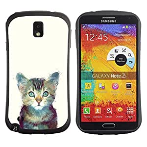 Be-Star Colorful Printed Design Anti-Shock Iface First Class Tpu Case Bumper Cover For SAMSUNG Galaxy Note 3 III / N9000 / N9005 N9000 N9002 N9005 ( cute space kitten cat furry painting ) Kimberly Kurzendoerfer