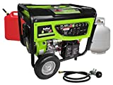 7500 watt propane generator - Smarter Tools ST-GP7500DEB, 6500 Running Watts/7500 Starting Watts, Dual Fuel Powered Portable Generator