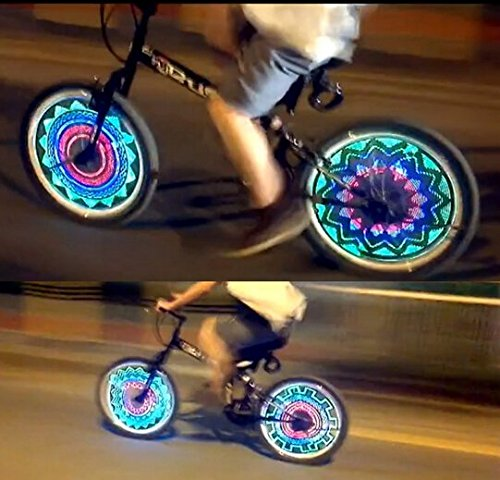 BicycleStore 36 LED Lights 32 Changes Mountain Cycling Bike Tire Wheel Light Double-sided Full Screen Display by Bicycle (Image #2)