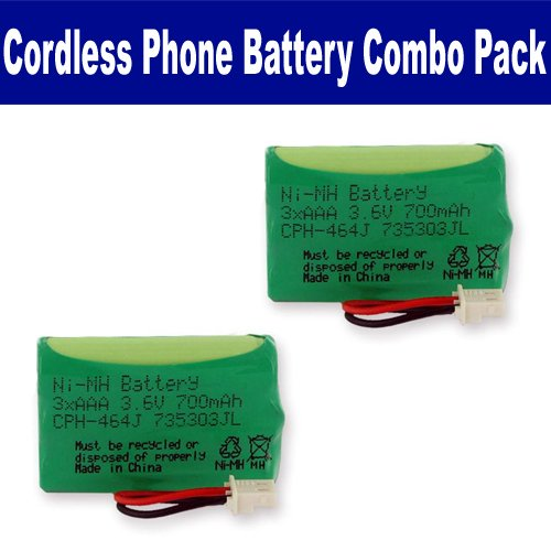 Southwestern Bell GH5850 Cordless Phone Combo-Pack includes: 2 x EM-CPH-464J Batteries