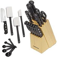 Conjunto de Facas e Utensílios para Cozinha Farberware Preta 22 Peças com Suporte