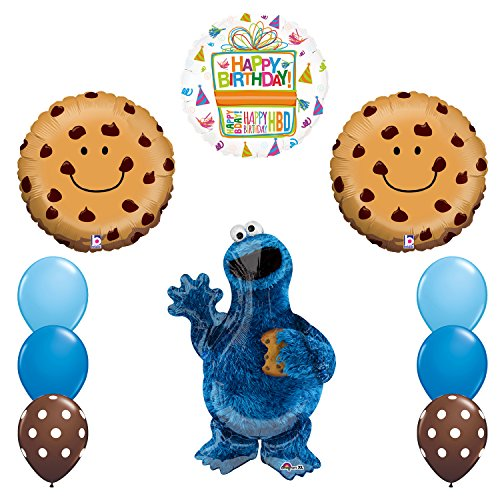 Mayflower Products Sesame Street Cookie Monsters Birthday Party Supplies Balloon Decorations -