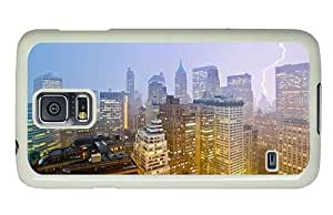 Hipster Samsung Galaxy S5 Case fashion cases new york lightning PC White for Samsung S5