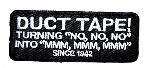 Duct Tape Patch Funny words Sew Iron on Embroidered Patch jacket vest cap sew iron on patch badge Patch Symbol Badge Cloth Sign Costume