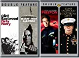 Crime & Military Films of Clint Eastwood Dirty Harry / Escape from Alcatraz + Firefox & Heartbreak Ridge Movie Collection Film Four Favorites pack