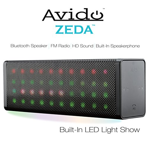 Avido-ZEDA-Portable-Full-LED-Light-Show-Wireless-Bluetooth-Speaker-HD-Sound-Built-In-Speakerphone-FM-Radio-Aux-Connection-USB-Mode-TF-Card-Mode-Voice-Prompts-and-Rechargeable-Battery