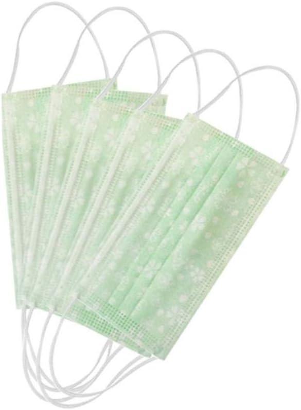 10pcs máscara Boca Desechables pañuelos de Polvo de la Boca elástico de la Tela no médica Cubierta Boca máscara de la máscara Gancho Niebla,Verde