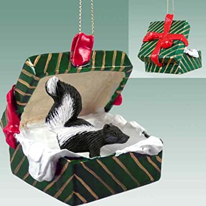 Skunk Gift Box Christmas Ornament - DELIGHTFUL! - Amazon.com: Skunk Gift Box Christmas Ornament - DELIGHTFUL!: Home