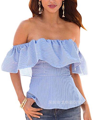 Camisas Sin Mangas - Mujeres Moda Hombro Sin Tirantes Tops Camiseta Blusa: Amazon.es: Ropa y accesorios