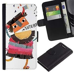 APlus Cases // Sony Xperia Z1 Compact D5503 // Niños Borracho Historieta Dibujo Bum // Cuero PU Delgado caso Billetera cubierta Shell Armor Funda Case Cover Wallet Credit Card