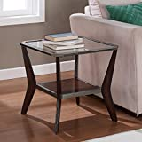 Cheap Metro Shop Boomerang Espresso/ Antique Silver End Table