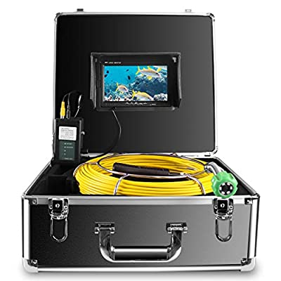 Pipe Inspection Camera,Pipeline Drain Sewer Industrial Endoscope Anysun PC20M Waterproof IP68 20M/65ft Snake Video System with 7 Inch LCD Monitor 1000TVL Sony CCD Camera SY3800?No Dvr Function?